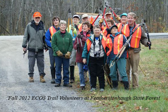 ECOS Trail volunteers at Featherstonhaugh State Forest
