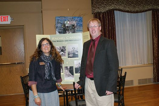 Rachael Miller, Founder of Rozalia Project with ECOS Executive Director Patrick Clear